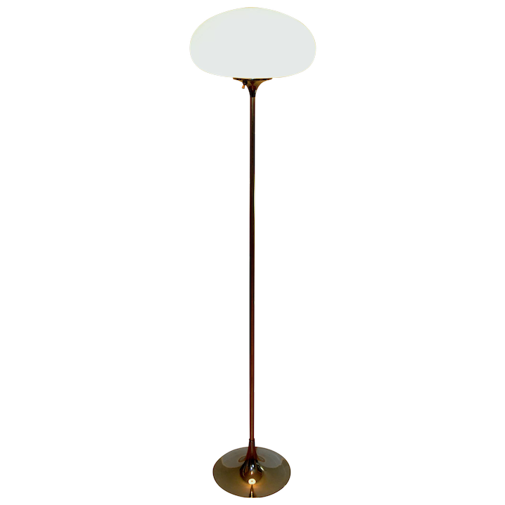 Laurel Lamp Co Floor With Mushroom Shade And Mid Century Modern Design