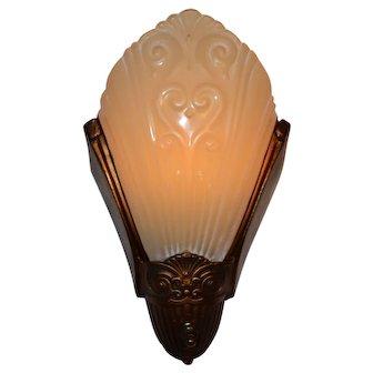 Art Deco Slip Shade Sconce by Virden Co.