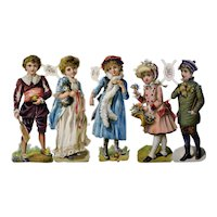 Die Cut and Embossed Chromolithograph Victorian Children Collection
