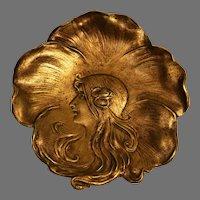 Bradley and Hubbard  Signed Art Nouveau Pin Tray