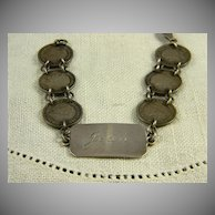 Sweet Engraved WWII British Sweetheart Bracelet