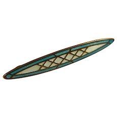 Lovely 1930's Genuine Cloisonne Pin
