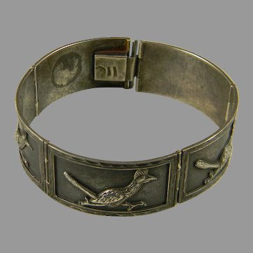 Wonderful Mid Century Mexican Silver Bracelet