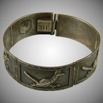 Wonderful Mid Century Mexican Silver Bracelet