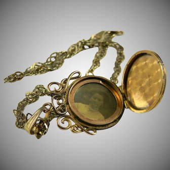 Lovely Gold Filled Locket  Circa 1880-1900