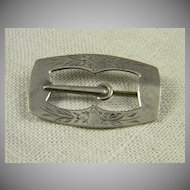 1930's Sterling Buckle Pin