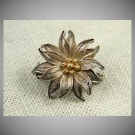 Pretty 800 Silver Floral Scatter Pin