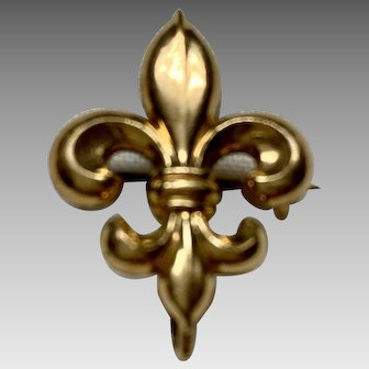 Antique  Fleur de lys watch pin