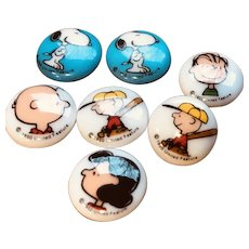 Snoopy Linus Lucy Peanuts sewing buttons