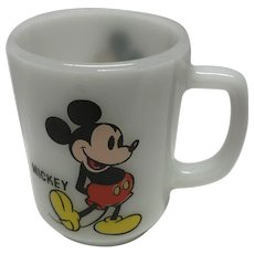 Vintage Mickey Mouse Pepsi mug Walt Disney production collector series anchor hocking.