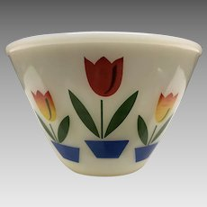 "Fire king tulip bowl 4""x6 3/4"" smallest of nesting set"