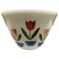 Fire king tulip bowl 41/2x 71/2 second smallest of nesting set