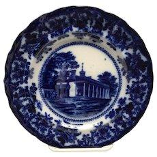 Mount Vernon Washington's Home flow Blue plate by Adams