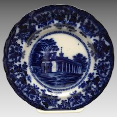 Mount Vernon Washington's Home flow Blue plate by Adams