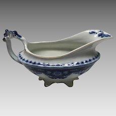 Myott Flow BLUE CRUMLIN  gravy boat