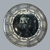 Early Staffordshire black transferware cabinet plate  ridgways.