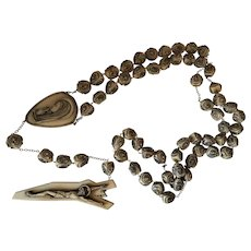 Extra large alabaster resin rosary from Italy