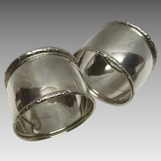 Pair of identical sterling silver BIRKS napkin rings