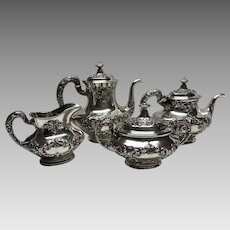 BIRKS sterling silver Gorham Buttercup 4 pc tea coffee set