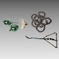 Vintage Czechoslovakian beads and wire Christmas ornaments
