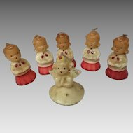 Gurley candles 5 vintage Christmas choir boy /girls and 1 angel
