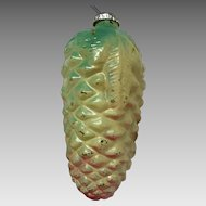 Extra large antique pineapple glass Christmas ornament