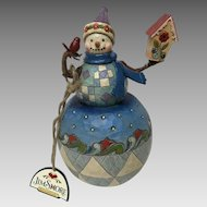 """"""" there's no place like home"""". Jim Shore Christmas decoration snowman"""