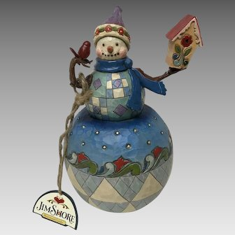 """ there's no place like home"". Jim Shore Christmas decoration snowman"