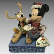 "Walt Disney Showcase Collection ""santa's Best friend"" Mickey and Pluto Christmas ornament"