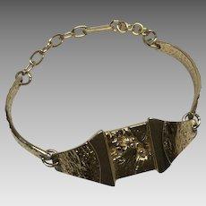 Modernist vintage gold tone Darveau bracelet