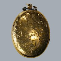 Double photo etched gold filled large picture locket