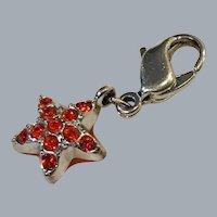 Vintage Swarovski crystal puffy  enamel star charm