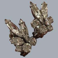 Crystal chaton and marquise rhinestones Sherman earrings