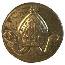 Bishop's Mitre vintage collectible button