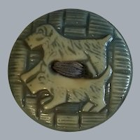 Vintage 2 scottie dog green button