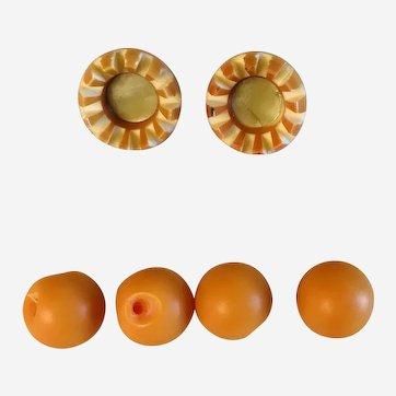 Vintage owl, animal, pet, cat, orange eyes button set