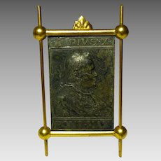 Catholic religious Frame stand Pope  Pius X  in relief