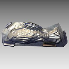 French antique chocolate mold smiling carp -fish