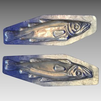French antique chocolate mold fish- nice details