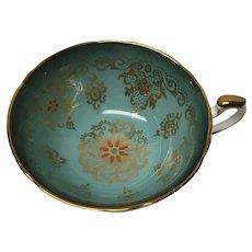 Paragon Turquoise orphan teacup tea cup double warrants