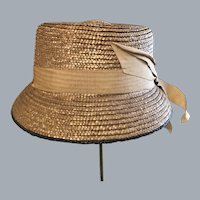 Child's New with tag  1950's Easter straw hat size 6 3/8