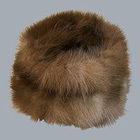 Vintage Schiaparelli mink fur hat