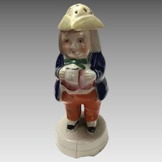 Antique Staffordshire mid 19th Century figural Toby hat pin hatpin holder