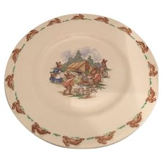 Bunnykins rabbit camp site fire salad plate Royal Doulton 8 ""