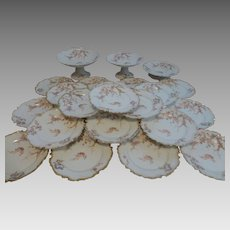 G. Boutigny Palais Royal Paris Limoges France cake coffee set 24 pieces angels cherubs