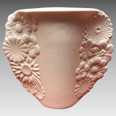 """Kaiser - vintage 5.25"""" white bisque vase floral design - W.Germany"""