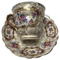 James Kent Longton Pompadour cup and saucer set