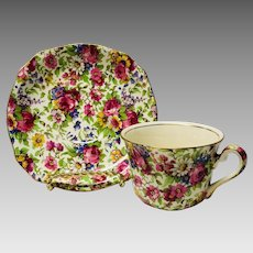 Royal Winton Summertime chintz cup and saucer set