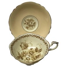 Paragon Beige teacup tea cup and saucer double warrants