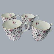 4 mugs Royal Albert Confetti Rose